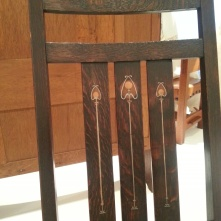 copper inlay chair