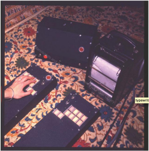 The Experiential Typewriter. Image: NYPL Manuscripts and Archives Division